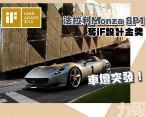 法拉利Monza SP1奪iF設計金獎