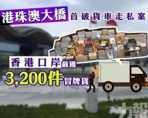 香港口岸截獲3,200件冒牌貨