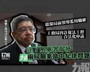 羅立文:正了解廉署揭發兩局個案當中紀律問題