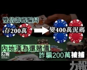 內地漢為還賭債詐騙200萬被捕