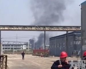 江蘇響水園區化工廠倉庫自燃