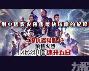 IMAX中國連升五日