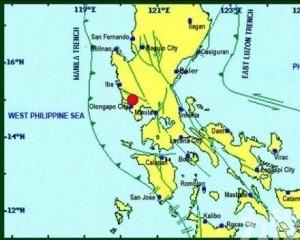 菲律賓三描禮士省5.7級地震