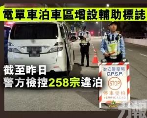 截至昨日警方檢控258宗違泊