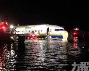 美佛州波音737客機衝出跑道墮河 至少21傷