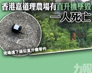 香港嘉道理農場有直升機墜毀 一人死亡