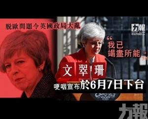 【英國脫歐】文翠珊宣布6月7日落台