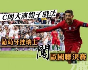 葡萄牙挫瑞士闖歐國聯決賽
