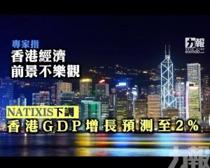 NATIXIS下調香港GDP增長預測至2%