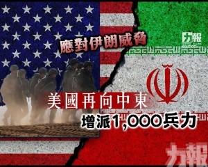 美國再向中東增派1,000兵力