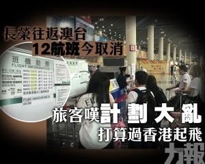 旅客嘆計劃大亂 打算過香港起飛