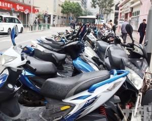 惠愛街電單車泊區增交通輔助標誌