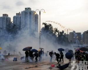 港警昨清場拘148人 放800枚催淚彈