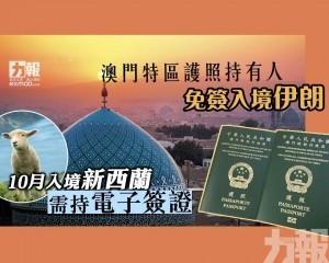 10月入境新西蘭需持電子簽證