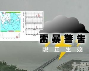 雷暴警告於下午1時31分發出