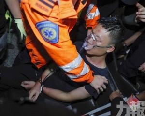 2內地男遭示威者毆打 警方拘5人