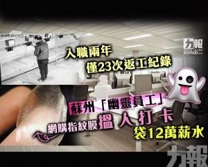 蘇州「幽靈員工」搵人打卡 袋12萬薪水