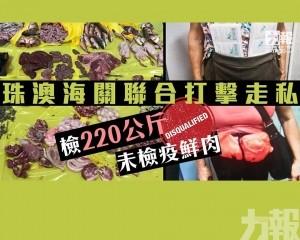 檢220公斤未檢疫鮮肉