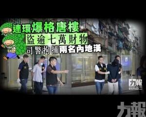 司警拘捕兩名內地漢