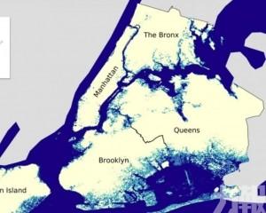 沿海城市未來面臨洪水風險