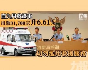 消防局呼籲切勿濫用救援服務
