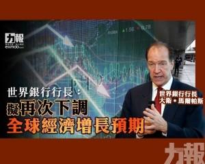 擬再次下調全球經濟增長預期