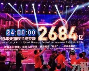 天貓「雙11」交易額2,684億元