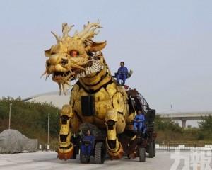 機械裝置巡遊「龍馬精神」周五揭幕