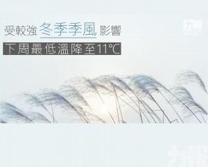 下周最低溫降至11℃