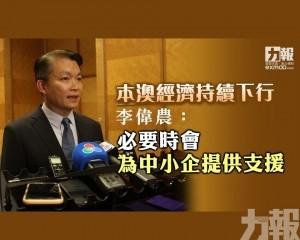 李偉農:必要時會為中小企提供支援