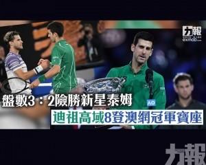 迪祖高域8登澳網冠軍寶座