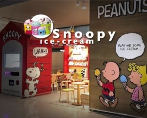 Snoopy 瘋狂包圍!韓國仁川機場限定雪糕店