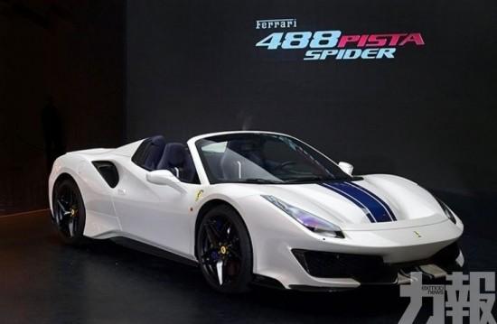 躍馬激情綻放COD! Ferrari 488 Pista Spider亮相
