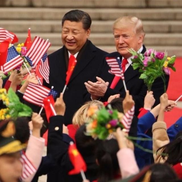 習近平為特朗普舉行歡迎儀式