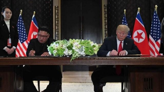 【特金會】特朗普與金正恩簽署聯合文件