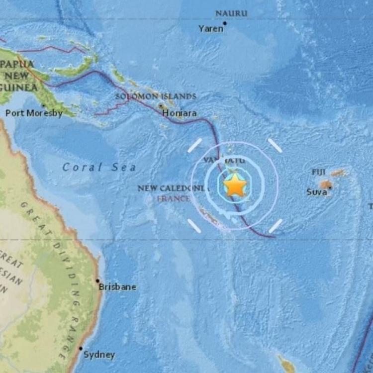 瓦努阿圖發生6.1級地震